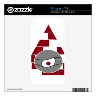 Pyramid Eye Decals For iPhone 4S