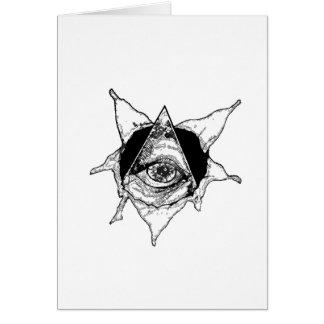 pyramid eye greeting card
