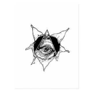 pyramid eye postcard
