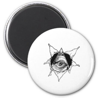 pyramid eye refrigerator magnet