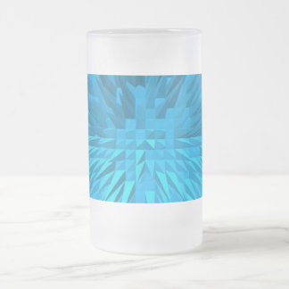 PYRAMID GLASS FROSTED GLASS BEER MUG
