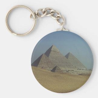 Pyramid Group Basic Round Button Keychain