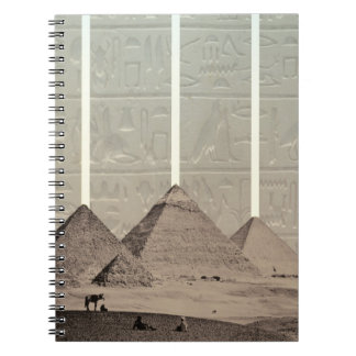 Pyramid Hieroglyph Spotlights Notebook