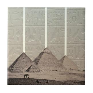 Pyramid Hieroglyph Spotlights Tile