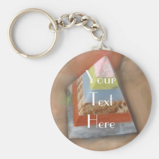 Pyramid in Clouds Key Chains