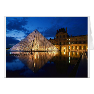 Pyramid in Louvre Museum,Paris,France Greeting Card