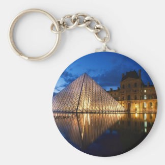 Pyramid in Louvre Museum,Paris,France Keychain