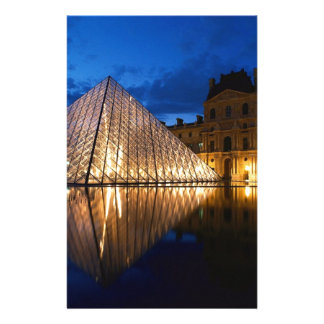Pyramid in Louvre Museum,Paris,France Stationery