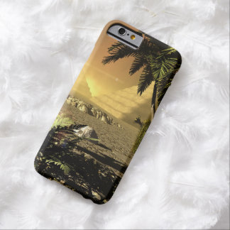Pyramid in the sunet, fantasy landscape barely there iPhone 6 case