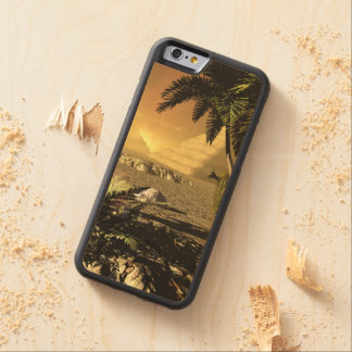 Pyramid in the sunet, fantasy landscape carved® maple iPhone 6 bumper case