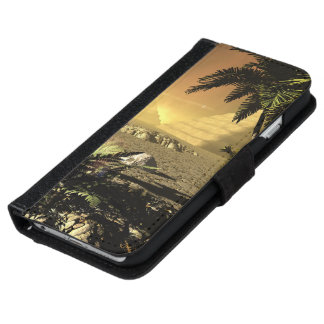 Pyramid in the sunet iPhone 6 wallet case