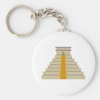 Pyramid Basic Round Button Keychain