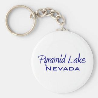 Pyramid Lake Basic Round Button Keychain