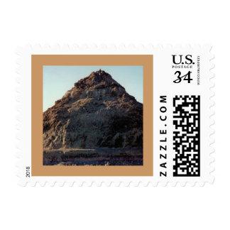 Pyramid Lake Nevada Postcard U.S. Postage Stamp