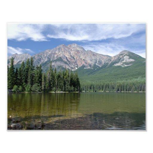 Pyramid Mountain and Lake Alberta Canada Art Photo