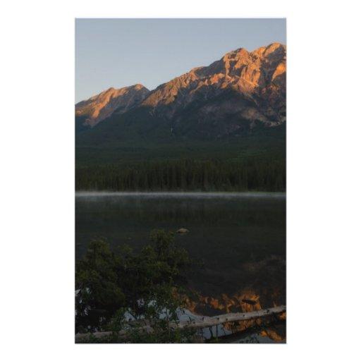 """Pyramid Mountain and Lake at dawn Alberta Canada 5.5"""" X 8.5"""" Flyer"""
