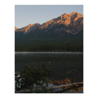 Pyramid Mountain and Lake at dawn Alberta Canada Flyer