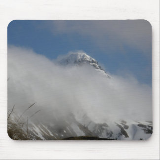 Pyramid Mountain Covered with Clouds Mouse Pads