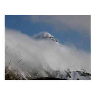 Pyramid Mountain Covered with Clouds Postcard