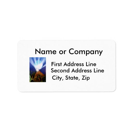 Pyramid n Blue planet with light spray painting Personalized Address Label