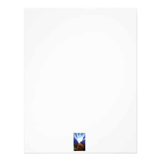 Pyramid n Blue planet with light spray painting Letterhead Template