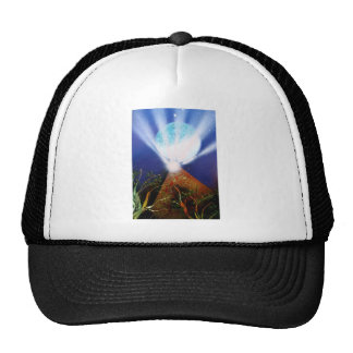 Pyramid n Blue planet with light spray painting Trucker Hat