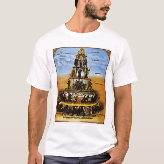 pyramid of capitalism system T-Shirt
