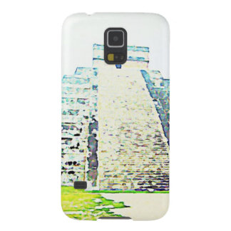 Pyramid Of Chichen Itza Watercolor Design Galaxy S5 Cover