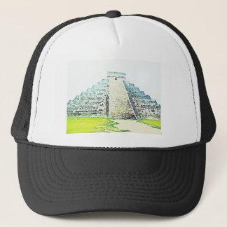 Pyramid Of Chichen Itza Watercolor Design Trucker Hat