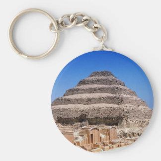 Pyramid of Djoser Basic Round Button Keychain