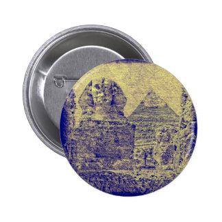 Pyramid of Khafre and the Great Sphinx Pinback Button