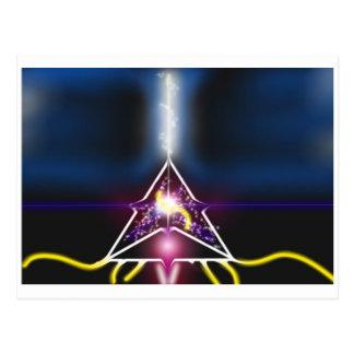 pyramid of light postcard