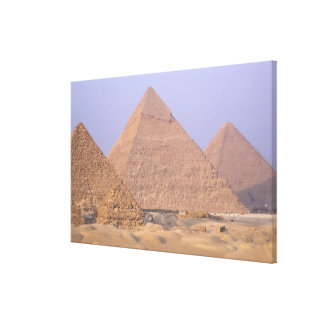 Pyramid of Menkaure Mycerinus Pyramid of Stretched Canvas Print