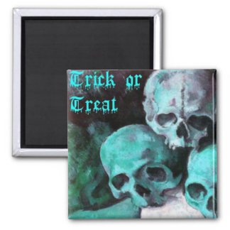 Pyramid of Skulls 2 Inch Square Magnet