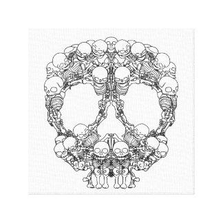 Pyramid of Skulls - Mini Skeletons Stretched Canvas Prints