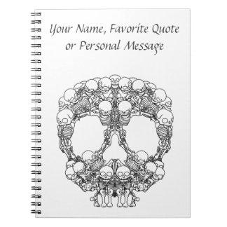 Pyramid of Skulls - Mini Skeletons Notebook