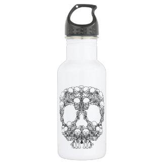 Pyramid of Skulls - Mini Skeletons 18oz Water Bottle