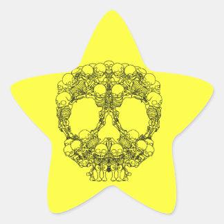Pyramid of Skulls - Mini Skeletons Stickers