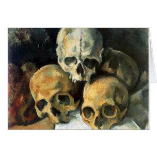 Pyramid of Skulls Paul Cezanne Card