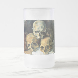 Pyramid of Skulls Paul Cezanne Frosted Glass Beer Mug