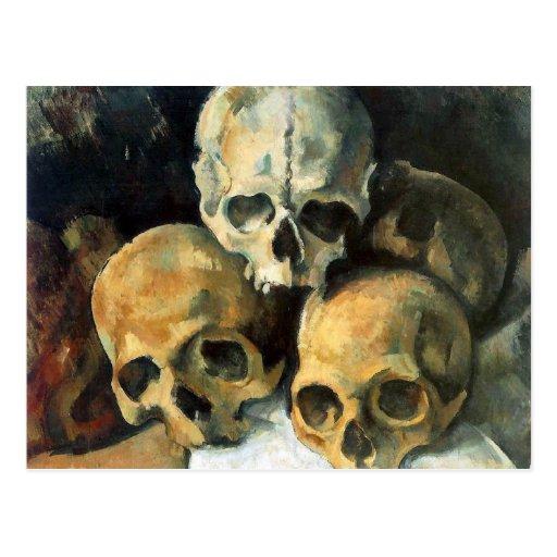 Pyramid of Skulls Paul Cezanne Postcard