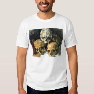 Pyramid of Skulls Paul Cezanne T-shirts