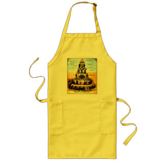 Pyramid Of The Capitalist System Anti-Capitalism Aprons