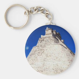 Pyramid of the Magician - Uxmal, Mexico Basic Round Button Keychain