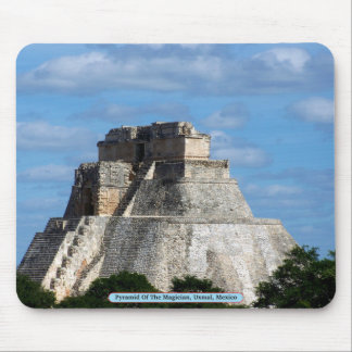 Pyramid Of The Magician, Uxmal, Mexico Mouse Pad