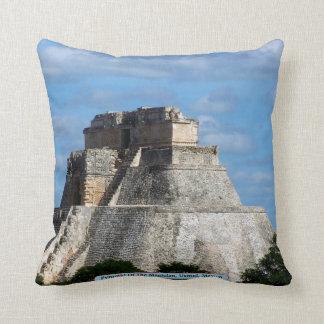 Pyramid Of The Magician, Uxmal, Mexico Throw Pillow
