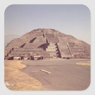 Pyramid of the Moon, built c.100-350 AD Square Sticker