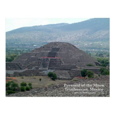Aztec Themed Pyramid of the Moon Postcard