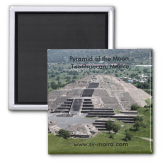 Pyramid of the Moon, Teotihuacan, Mexico 2 Inch Square Magnet