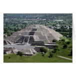Pyramid of the Moon, Teotihuacan, Mexico Greeting Card